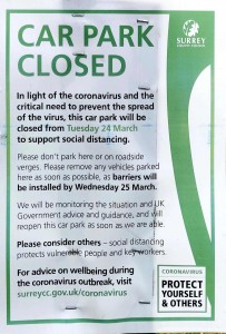 Carpark closed - Newlands Corner